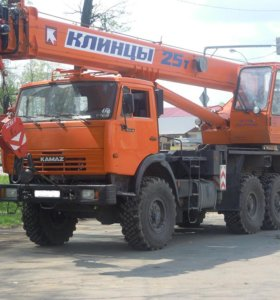 Аренда автокрана вездеход 25т в Приморске, услуги