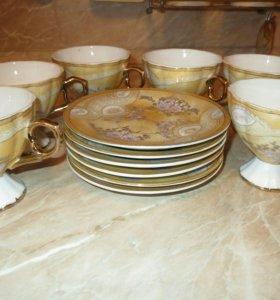 Сервиз 6 чашек,6 блюдц