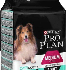 Корм Проплан для собак средних пород с ягненком