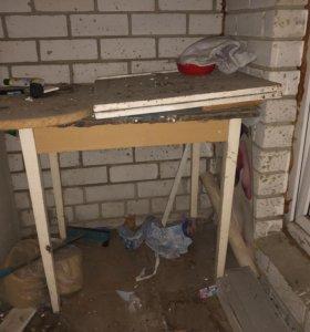 Шкаф навесной напольный и стол