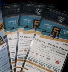 Билеты на хоккей 23 января  сочи