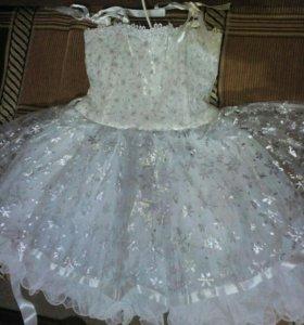 Платье снежинка 2-4 года