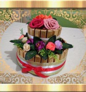 Торты и букеты из конфет