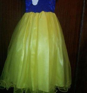 Платье белоснешки на Новый год , для девочки 6лет