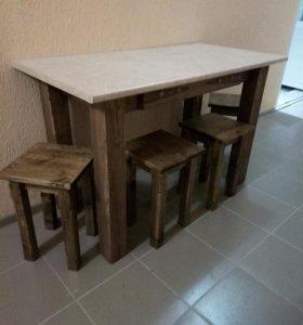 Стол +4 табуретки