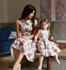 Платья для мамы и дочки | family look фэмили лук