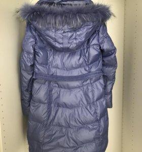 Куртка зимняя, цвет голубой металлик.