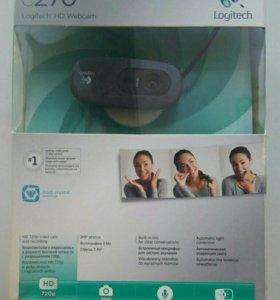 Вебкамера logitech HD c270