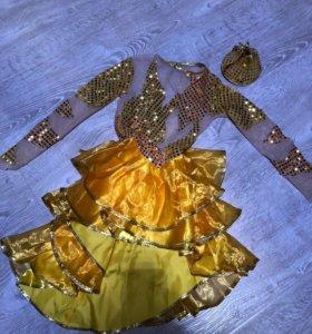 Костюм золотая рыбка, размер 122-128