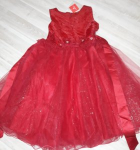 Платье новогоднее (новое) 134 рост