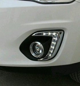 Ходовые огни с поворотом для mitsubishi asx 2013-2