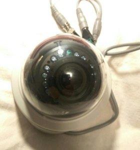 Видеорегистратор+камера купольная аналоговая