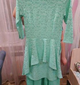 Платье с флейшем