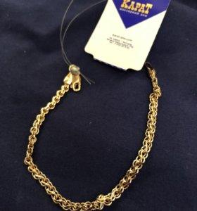 Золотой браслет новый