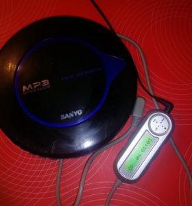 MP3 cd плеер sanyo CDP-M480 с пультом ду