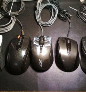 Мышки игровые X7 проводные в отличном состоянии