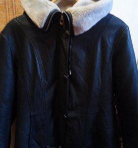 Коженная зимняя куртка.р.48,50