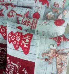 Подушка декоративная новогодняя.