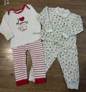 Пижамки mothercare 12-18мес