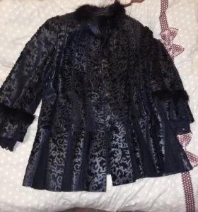 Утепленая куртка кожа