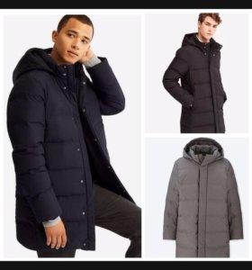 Новое пуховое пальто