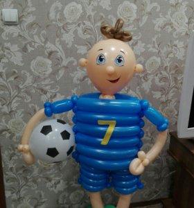 Воздушные шары, закачка гелием, оформление шарами