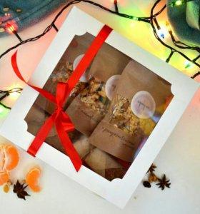 """Новогодний подарочный набор гранола """"Геркулес"""""""