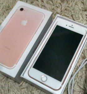 iPhone 7 (32гб) розовое золото