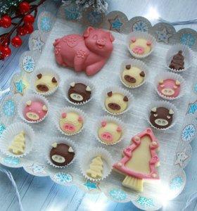 Сладкие подарки. Шоколад. Новогодние подарки