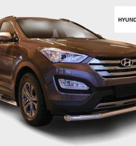 Защита бампера перед зад пороги Hyundai Santa Fe