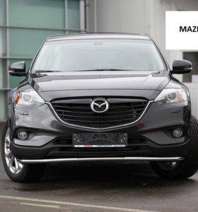 Защита бампера пороги Mazda CX-9 2013