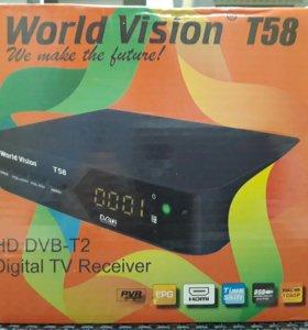 ТВ(DVB T2)приставка цифрового приема каналов TV.