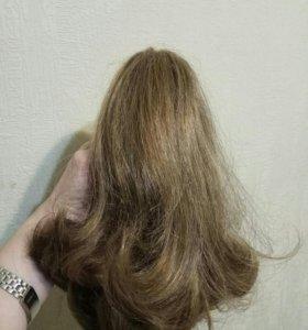 Искусственный волос на заколке хвост