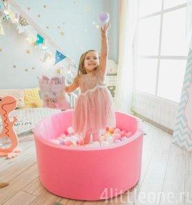 Средне розовый цвет сухой бассейн с шариками
