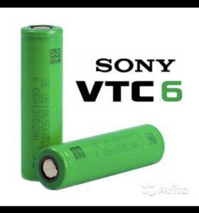 Аккумуляторы Sony VTC6 18650 (3000mAh, 30А)