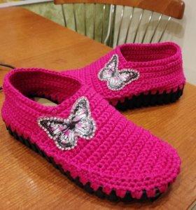 Вяжу обувь для детей и взрослых