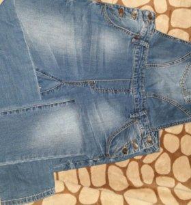 Комбинезон джинсовый женский