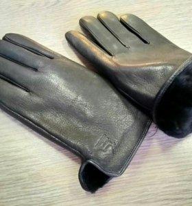 Натуральные мужские перчатки