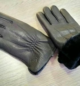 Мужские зимние перчатки натуральные