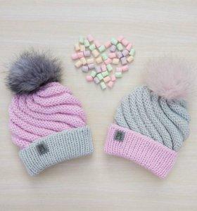 Вязаные шапки по индивидуальному заказу