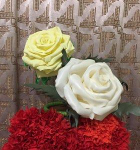 Интерьерные цветы,светильники цветы, 3D буквы