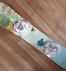Сноуборд + крепления