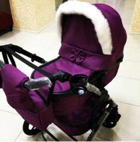 Утепленная коляска-трансформер new