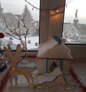 Поделки новогодние в сад и школу