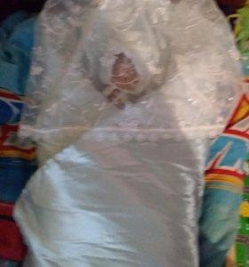 Меховое одеяло на выписку