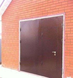 новые распашные гаражные ворота