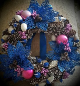 Рождественские венки ручной работы