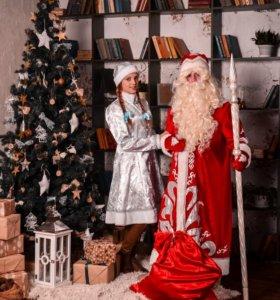 Дед мороз и снегурочка с музыкой