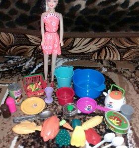 Посуда, продукты для куклы