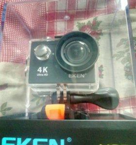 Экшнкамера Eken h9 ultra hd 4k 1080p black в налич